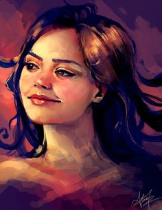 New Doctor Who companion announced today! :) Jenna-Louise Coleman - here's a quick doodle of her - Alice X. Zhang