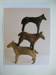 Memory Horses - the balancing act cathycullis etsy