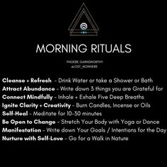 These are my morning rituals and the reasons why! Adapting spirituality into you… These are my morning rituals and the reasons why! Adapting spirituality into your daily life will harmonize your mind, body and soul. Mind Body Soul, Body And Soul, Mind Body Spirit, Stress, Chakra Heilung, 5am Club, Morning Ritual, Morning Mood, Self Healing
