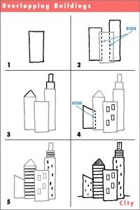city buidling drawings How to Draw a City Fun Drawing Lessons
