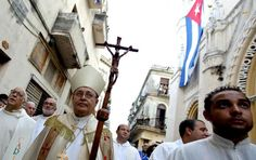 Cuba's Catholic Church leader, Cardinal Jaime Ortega, took part in the annual procession of Our Lady of Charity, the patron saint of Cuba, in Havana last year. (Photo by Enrique de la Osa/Reuters)