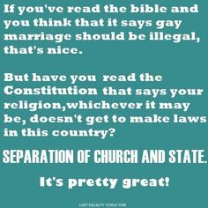 Seperation of state and church