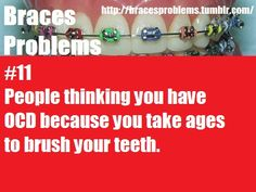 Well you either take your time or get ready to have the braces leave marks on your teeth!!