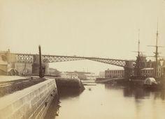 Hubert Vaffier - Brest, le pont tournant (1891)