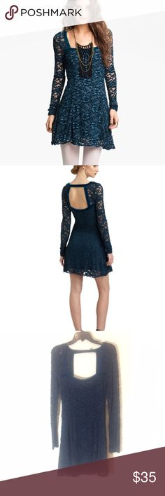 Free people lace and velvet dress New with tags Free People Dresses