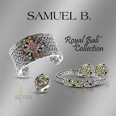 "SAMUEL B ""ROYAL BALI"" COLLECTION  SILVER GENUINE GEMSTONES 18K GOLD 18k Gold, Artisan, Gemstones, Bracelets, Silver, Handmade, Collection, Jewelry, Design"