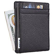 9e276a66cffc Trayvax Leather and Metal Minimal Wallet