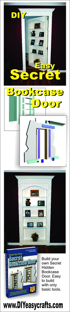 Secret Hidden Bookcase Door. Lear how easy this DIY project is. For under $300, and with a few basic tools you can build your own secret bookcase door.