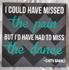 The Dance  Garth Brooks  Canvas Art by OneInEmilyonDesigns on Etsy