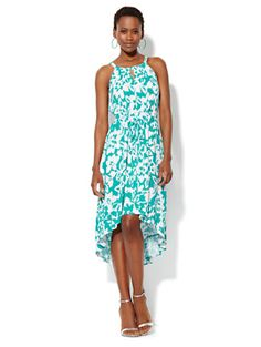 Floral Halter Dress - New York & Company