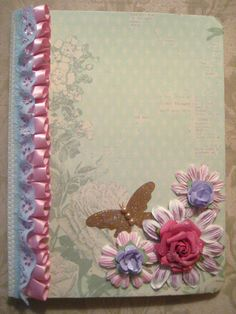 Altered shabby chic notebook