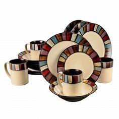 Tabella Mosaic 16 pc Dinnerware Set (78688.16)