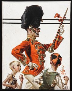 Joseph C. Leyendecker (American, Drum Major Description O/C. Painted for Saturday Evening Post. American Illustration, Illustration Art, Painting Inspiration, Art Inspo, Joseph, Jc Leyendecker, Illustrations Vintage, Vintage Artwork, Drum Major