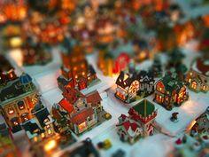 xmas miniature village