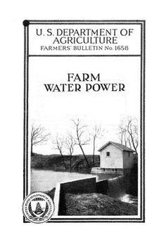 Farm water power (1933) - Full Text   University of North Texas Digital Library