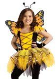 Fun World Kids Girls Monarch Butterfly Fairy Tutu Halloween Costume Medium
