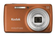 Kodak EasyShare M552 14 MP Digital Camera with 5x Optical Zoom and 2.7-Inch LCD - Orange by Kodak. $85.00. From the Manufacturer                  KODAK EASYSHARE M552 Digital Camera  Overview The camera that brings everyone together. With a wide-angle lens for impressive group shots, HD video at the ready, and the power of the Share button at your fingertips, keeping close is easier than ever. Sleek and small yet we even found room to add a dedicated HD video button for ...
