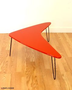 Booma-mid coffee table Mid Century Atomic Eames Era. $160.00, via Etsy.