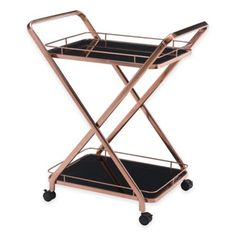 Buy the Zuo Modern 100370 Rose Gold Direct. Shop for the Zuo Modern 100370 Rose Gold Vesuvius Serving Cart - Rose Gold and save. Diy Bar Cart, Gold Bar Cart, Bar Cart Decor, Bar Carts, Rose Gold Interior, Kitchen Island Cart, Kitchen Dining, Kitchen Carts, Dining Room