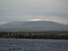 Mauna Kea and Hilo Bay
