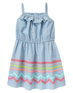 Embroidered Chambray Dress at Gymboree