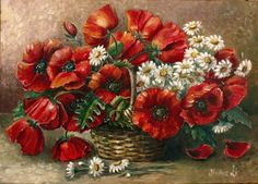 Red Flower Painting By Numbers Frameless DIY Canvas Oil Painting Wall Art Home Decor for Living Room of Flower >>> For more information, visit image link. Flower Canvas, Flower Art, Red Poppies, Red Flowers, Beautiful Flowers, Art Floral, Spray Paint Flowers, Cadre Diy, Decoupage