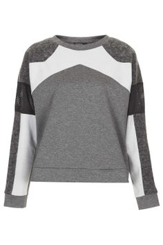 Triple Texture Sweat - Tops - Clothing - Topshop