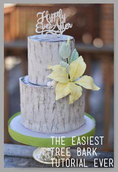 Tree Bark Tutorial from Rebekah Naomi Cake Design