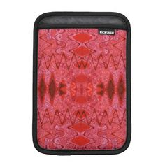 Modern Red pattern iPad Mini Sleeve