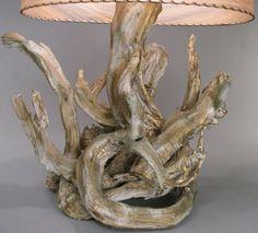jolie bois flotté déco pour lampe