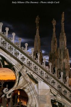 Milano the Duomo (buttress and spires) by adolfo carli, via 500px