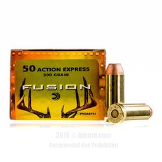 Federal Fusion 50 Action Express Ammo - 20 Rounds of 300 Grain SP Ammunition #50ActionExpress #50AEAmmo #Federal #FederalAmmo #Federal50AE #SP #FederalFusion