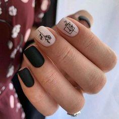 Classy Nails, Stylish Nails, Trendy Nails, Cute Nails, Short Square Nails, Short Nails, Square Nail Designs, Gel Nail Colors, Oval Nails