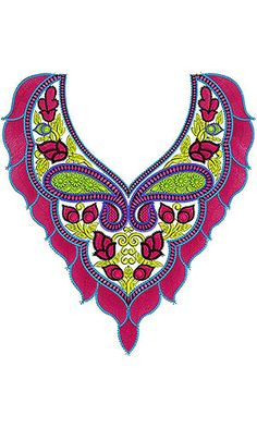Fashion Indian Dresses Neck Embroidery Design