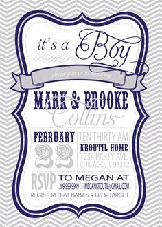 COUPLES BABY SHOWER invitation Its a Boy by SLDESIGNTEAM on Etsy, $18.00
