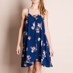 Bare Anthology Dresses & Skirts - Floral Print Navy Strappy Dress