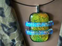 Neon Blue Dichroic Saturn Rings on this Dichroic by DUNEGLASS, $18.00