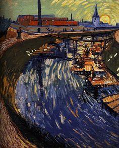 Vincent van Gogh I La Roubine du Roi Huile sur Toile I 1888