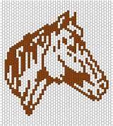 RUNNING HORSE - LOOM beading pattern