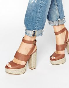 d5663c405c64d8 New Look Porto Tan Stack Heeled Sandals Sandals Outfit