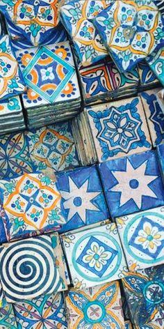 I love patterned tiles
