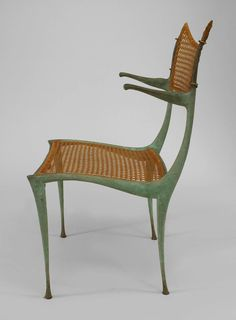 """Set of Four 1950s American """"Gazelle"""" Chairs by Dan Johnson 