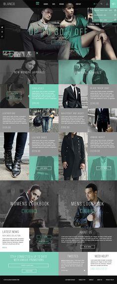 Blanco Fashion Store on Web Design Served on Wookmark Web Responsive, Ui Web, Ecommerce, Webdesign Inspiration, Website Design Inspiration, Yoga Inspiration, Website Layout, Web Layout, Template Web