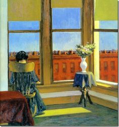 Edward Hopper - Room in Brooklyn, 1932 Boston Museum of Fine Art American Realism, American Artists, Johannes Vermeer, Edouard Hopper, Edward Hopper Paintings, Felix Vallotton, Ashcan School, Morning Sun, Comic Art