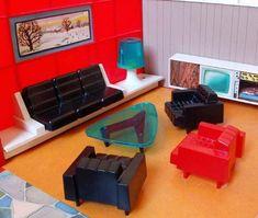 4da5d9ccc282 Debbie's Dream House (1960s) Modern Dollhouse, Victorian Dollhouse,  Dollhouse Interiors, Dollhouse