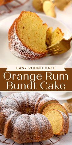 Coconut Pound Cakes, Coconut Desserts, Pound Cake Recipes, Easy Cake Recipes, Dessert Recipes, Rum Cake Recipe Easy, Perfect Cake Recipe, Orange Bundt Cake, Spiced Rum
