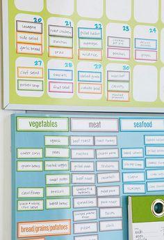 Home Organization: Kitchen Command Center   Meal Planning Organizers from http://annezca.blogspot.com