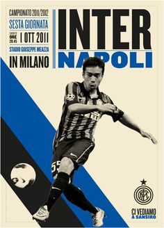 Poster campaign for Inter Milan football club. By Leftloft