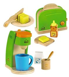 How cute is this toaster with butter, bread, and honey bear?! (the coffee maker is sold separately)