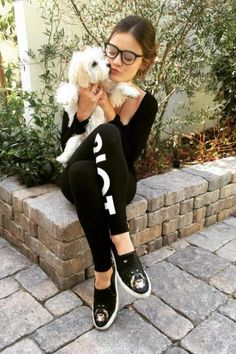 Lucy Hale wearing Givenchy Rottweiler Star Heel Skater Shoes and Sub_Urban Riot Downtown Leggings